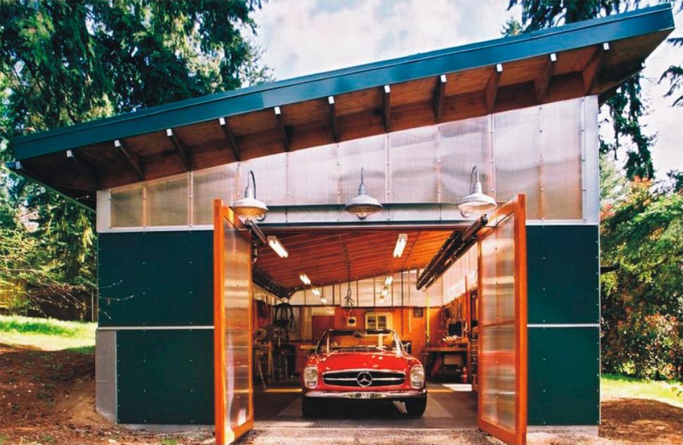 Дешевые красивые гаражи своими руками 622